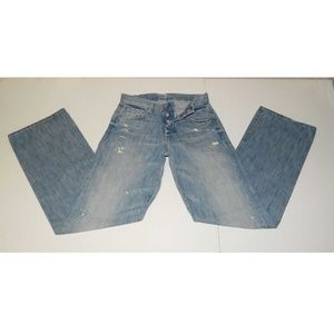7 For All Mankind Mens 28x33 Distressed Jeans